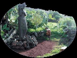 Statue im Garten des Lebens